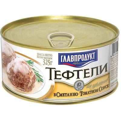 Тефтели Главпродукт в сметано-томатном соусе