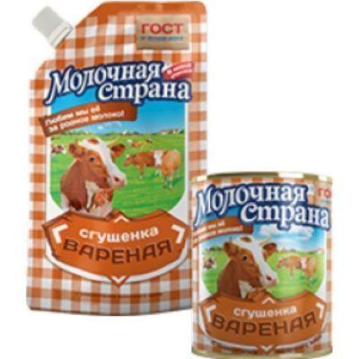 Продукт на молочной основе сгущенный Молочная Страна с сахаром Сгущенка вареная д/п