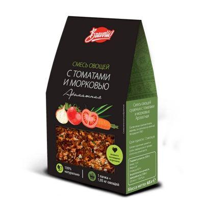 Смесь овощей сушеных Bravolli! с томатами и морковью Ароматная