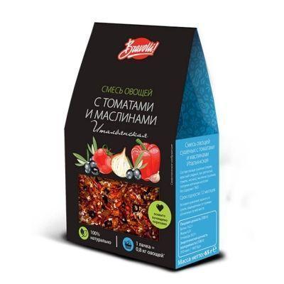 Смесь овощей сушеных Bravolli! с томатами и маслинами Итальянская