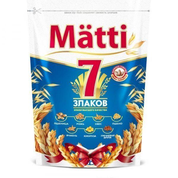 Хлопья Matti быстрого приготовления 7 злаков дой-пак
