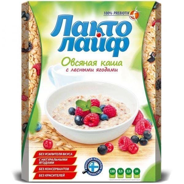 Каша овсяная Matti Лакто Лайф порционная лесные ягоды 6пак.*40 гр.