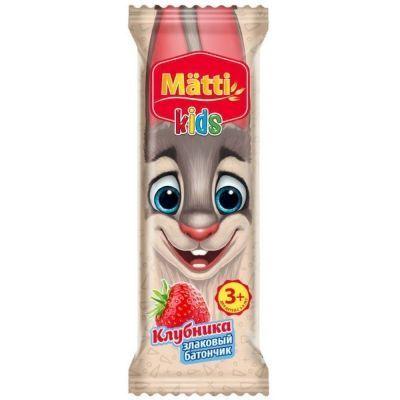 Батончик злаковый Matti kids клубника