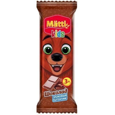 Батончик злаковый Matti kids шоколад
