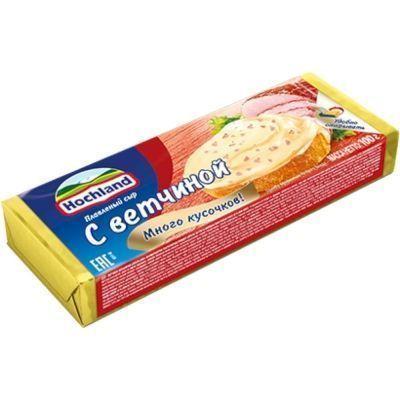 Сыр плавленый Hochland 'С ветчиной' блочек