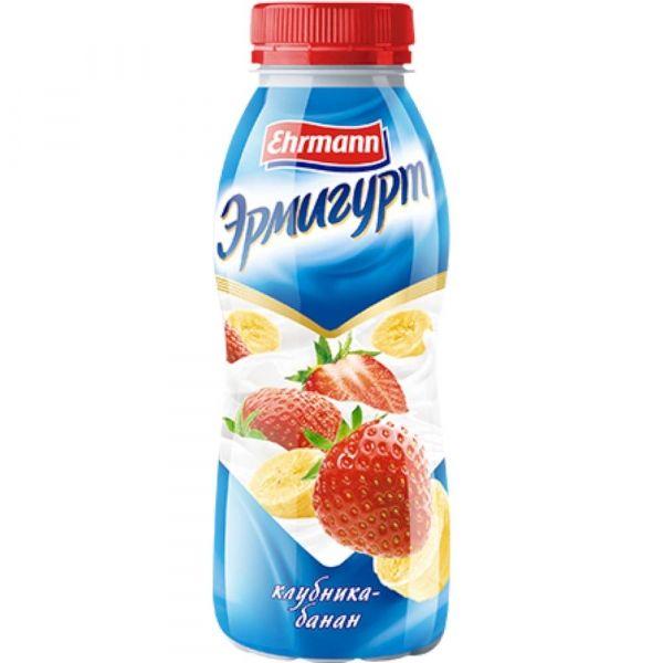Продукт йогуртный Эрмигурт питьевой 1,2% с клубникой и бананом