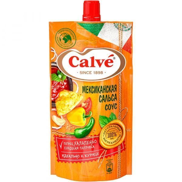 Соус томатный Calve Мексиканская сальса дой-пак