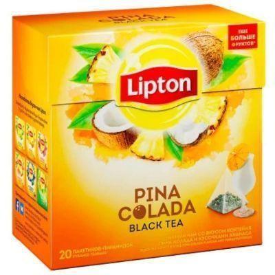 Чай черный Lipton ароматизированный Pina Colada с кусочками ананаса 20 пир.