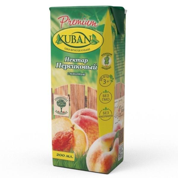 Нектар Кубана персиковый с мякотью для детского питания