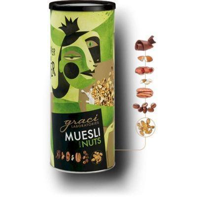 Мюсли Graci Laboratories с семенами подсолнечника, миндалем, пеканом, кедровыми орешками и кофе
