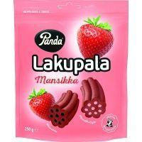 Конфеты лакричные Panda Lakupala с начинкой со вкусом клубники