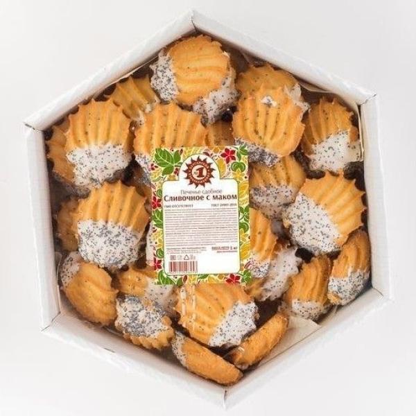 Печенье Хлебокомбинат №1 Сливочное с маком