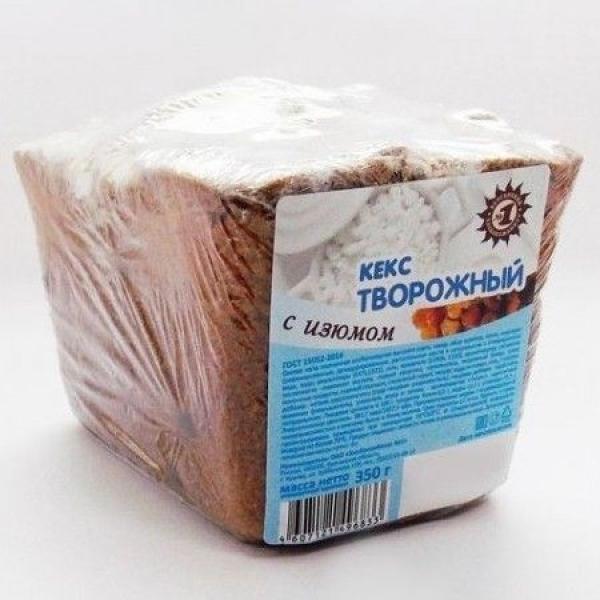 Кекс Хлебокомбинат №1 Творожный с изюмом