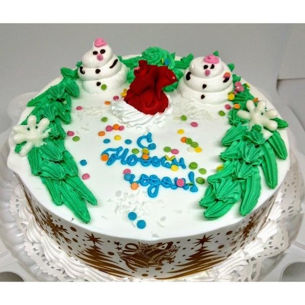 Торт Чайная Роза Подарок Деда Мороза