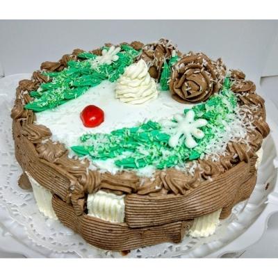 Торт Чайная Роза Зимняя сказка