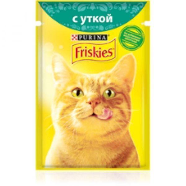 Корм для кошек Фрискис Утка пауч