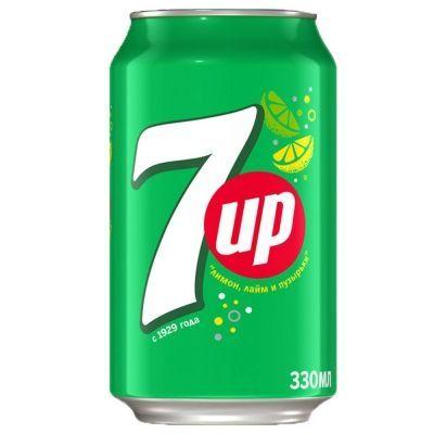 Напиток безалкогольный 7Up газированный ж/б