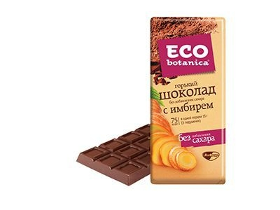 Шоколад 'Eco-botanica' горький с имбирем