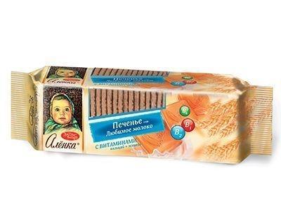 Печенье 'Аленка' вкус любимое молоко с витаминами