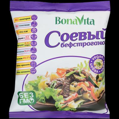 Соевое мясо BonaVita Бефстроганов