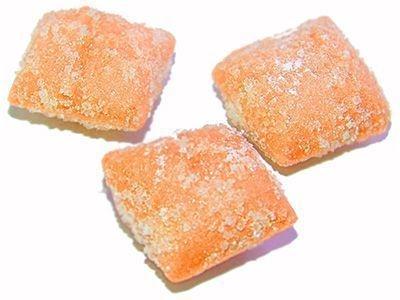 Карамель желейная со вкусом апельсинового йогурта в сахаре