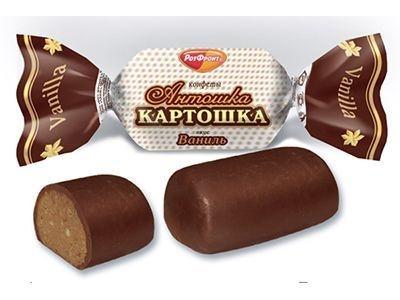 Конфеты 'Антошка-картошка' вкус Ваниль