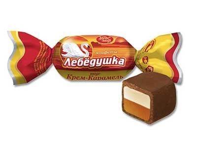 Конфеты 'Лебедушка' вкус Крем-Карамель