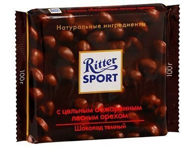 Шоколад темный 'Ritter Sport' с цельным обжаренным лесным орехом