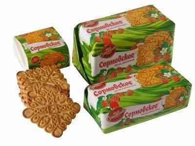 Печенье 'Сормовское' земляничное