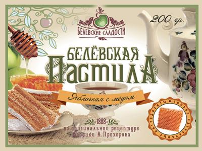 Пастила 'Белевская' яблочная с медом