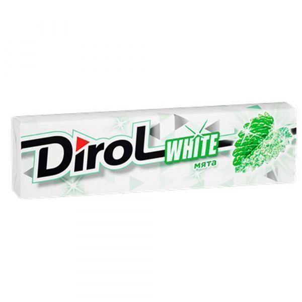 Жевательная резинка Dirol White Сладкая мята без сахара с мятным вкусом