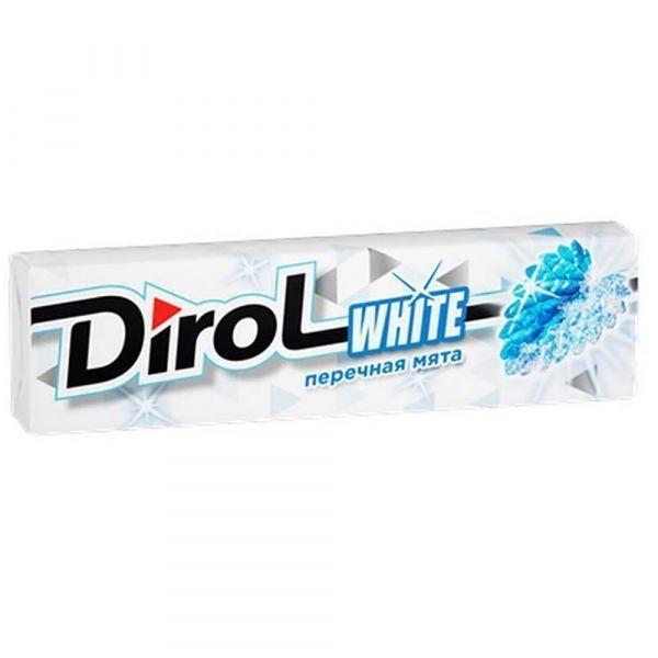 Жевательная резинка Dirol без сахара со вкусом перечной мяты