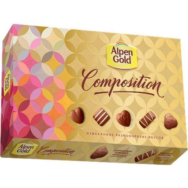 Набор конфет Альпен Гольд Композишн (пять вкусов)