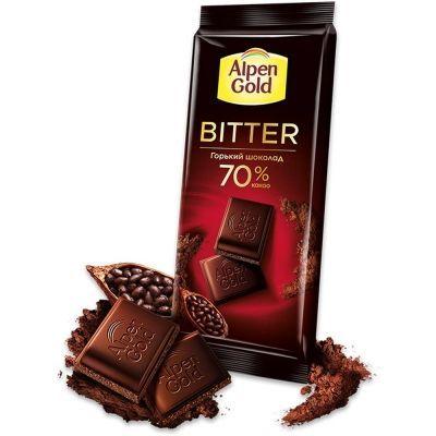 Шоколад Альпен Гольд горький