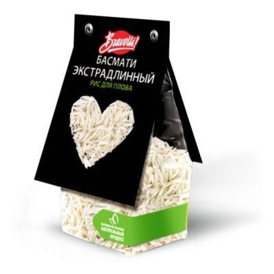 Рис для плова Басмати экстрадлинный Bravolli!