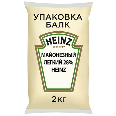 Соус Heinz майонезный легкий 28% пакет