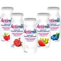 Напиток Актимель кисломолочный клубника 2,5%