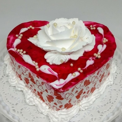 Торт Чайная Роза Валентинка