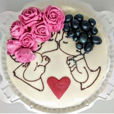 Торт Чайная Роза Ты и я