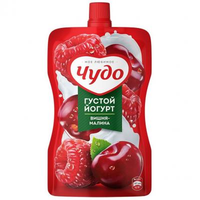 Йогурт фруктовый Чудо 2,6% вишня, малина д/п