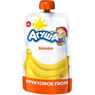 Пюре фруктовое Агуша банан детское питание м/у