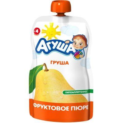 Пюре фруктовое Агуша груша детское питание м/у