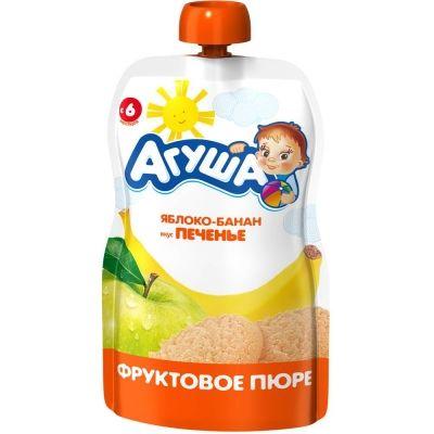 Пюре фруктовое Агуша яблоко, банан, печень детское питание м/у