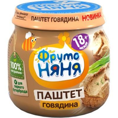Паштет ФрутоНяня из говядины с печенью детское питание с/б