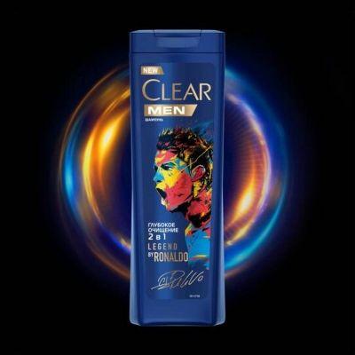 Шампунь Clear Carat против перхоти для мужчин 2 в 1 Глубокое очищение