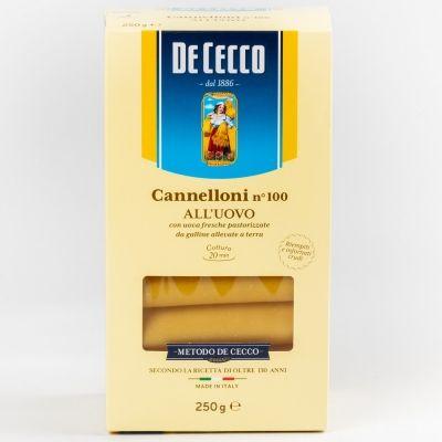 Макаронные изделия 'De Cecco' Каннеллони яичные №100 карт.