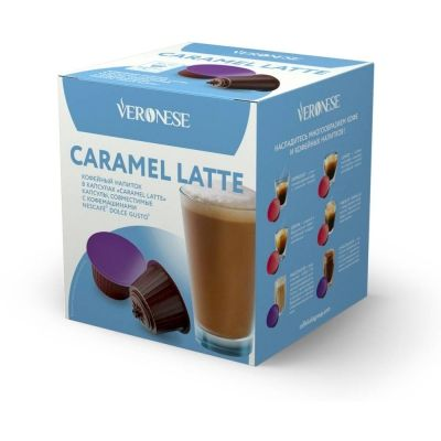 Кофе в капсулах Veronese Caramel Latte (стандарт Dolce Gusto) 10 шт.