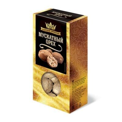 Мускатный орех целый Царская приправа (коробочка)