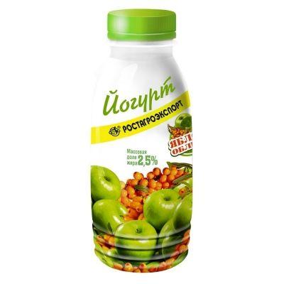Йогурт РостАгроЭкспорт 2,5% яблоко, облепиха бут