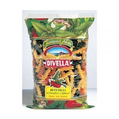 Паста Divella Фузилли с помидорами и шпинатом